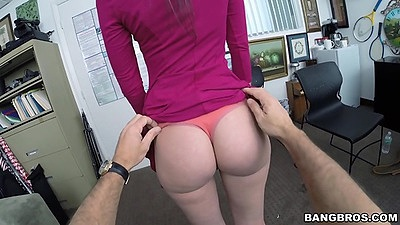 Gia Paige skinny white chick gets undressed by dude in first sex video views:736