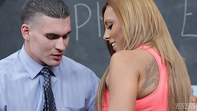 Blonde classroom fuck with man on desk Gianna Nicole views:898